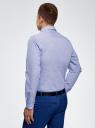 Рубашка хлопковая в мелкую графику oodji #SECTION_NAME# (синий), 3L110309M/44425N/1074G - вид 3