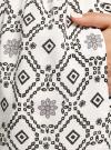 Платье принтованное из вискозы oodji #SECTION_NAME# (белый), 11910073/26346/1229O - вид 5