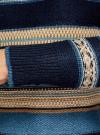 Джемпер вязаный прямого силуэта oodji для женщины (синий), 63807296/43807/7974J - вид 5
