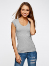 Комплект из двух базовых футболок oodji #SECTION_NAME# (серый), 14711002T2/46157/2000M - вид 2