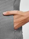 Жилет приталенный из фактурной ткани oodji для женщины (серый), 12300099-11/46284/1229C