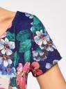 Платье приталенное с V-образным вырезом на спине oodji #SECTION_NAME# (разноцветный), 14011034B/42588/7945F - вид 5