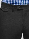 Брюки slim из фактурной ткани oodji #SECTION_NAME# (серый), 2L210246M/48766N/2500M - вид 4
