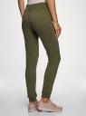 Комплект трикотажных брюк (2 пары) oodji #SECTION_NAME# (зеленый), 16700030-15T2/46173/6800N - вид 3