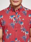 Рубашка хлопковая с короткими рукавами и нагрудным карманом oodji #SECTION_NAME# (красный), 3L410154M/49929N/4579G - вид 4