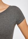 Платье миди с вырезом на спине oodji #SECTION_NAME# (серый), 24001104-5B/47420/2500M - вид 5