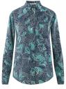 Блузка прямого силуэта с нагрудным карманом oodji #SECTION_NAME# (синий), 11411134-1B/48853/7973E