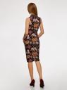 Платье облегающего силуэта с воротником-стойкой oodji #SECTION_NAME# (черный), 14005138-3B/46943/294AF - вид 3