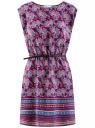 Платье вискозное с поясом oodji #SECTION_NAME# (фиолетовый), 11910073-3B/26346/8373E