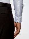 Рубашка приталенная с воротником-стойкой oodji для мужчины (белый), 3L140115M/34146N/1000N - вид 5