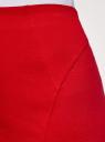 Юбка-карандаш трикотажная oodji #SECTION_NAME# (красный), 14100068-5B/46944/4503N - вид 5