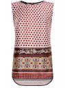 Топ принтованный из струящейся ткани oodji для женщины (разноцветный), 21400351M/35542/1231E