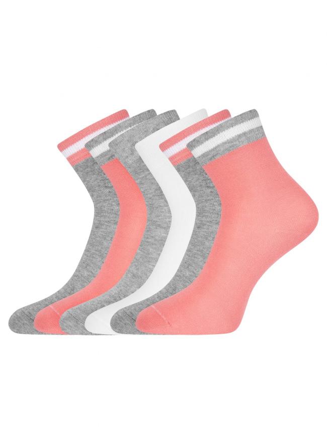 Комплект из шести пар носков oodji для женщины (разноцветный), 57102466T6/47469/2