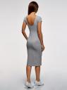 Платье миди с вырезом на спине oodji для женщины (серый), 24001104-9/47420/2019Z
