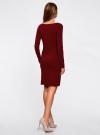 Платье трикотажное облегающего силуэта oodji для женщины (красный), 14001183B/46148/4900N - вид 3