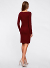 Платье трикотажное облегающего силуэта oodji #SECTION_NAME# (красный), 14001183B/46148/4900N - вид 3