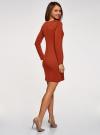 Платье базовое облегающего силуэта oodji #SECTION_NAME# (коричневый), 14011038B/38261/3100N - вид 3