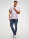 Рубашка хлопковая с коротким рукавом oodji #SECTION_NAME# (белый), 3L400002M/48202N/1245S - вид 6
