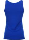 Майка базовая oodji для женщины (синий), 14315002B/45308/7500N