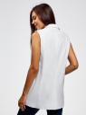 Жилет льняной прямого силуэта oodji для женщины (белый), 22305005B/16009/1000N