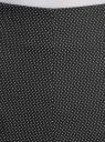 Шорты из жаккардовой ткани с высокой посадкой oodji для женщины (черный), 11800030-4/49847/2910D