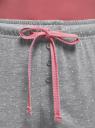 Брюки принтованные с завязками oodji #SECTION_NAME# (серый), 59807042-2/46154/2310D - вид 4