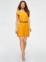 Платье вискозное без рукавов oodji #SECTION_NAME# (желтый), 11910073B/26346/5200N - вид 2