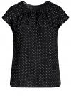 Блузка свободного силуэта с бантом oodji #SECTION_NAME# (черный), 11411154/24681/2912Q