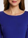Платье трикотажное облегающего силуэта oodji для женщины (синий), 14001183B/46148/7500N - вид 4