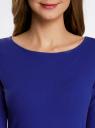 Платье трикотажное облегающего силуэта oodji #SECTION_NAME# (синий), 14001183B/46148/7500N - вид 4