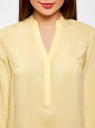 Блузка базовая из вискозы oodji #SECTION_NAME# (желтый), 21412129-1/24681/5000N - вид 4
