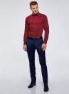 Рубашка базовая приталенная oodji #SECTION_NAME# (красный), 3B140000M/34146N/4502N - вид 6
