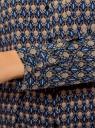 Туника принтованная из вискозы с ремнем oodji для женщины (синий), 21412057-4/24681/7933E