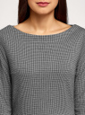 Платье приталенное с вырезом-лодочкой oodji #SECTION_NAME# (серый), 14011011-1/46979/2912J - вид 4