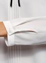 Блузка с декоративными завязками и оборками на воротнике oodji #SECTION_NAME# (белый), 11411091-2/36215/1200B - вид 5