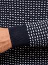 Пуловер прямого силуэта с контрастной отделкой oodji #SECTION_NAME# (синий), 4L212171M/25255N/7910J - вид 5