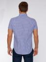 Рубашка клетчатая с коротким рукавом oodji #SECTION_NAME# (синий), 3L210030M/44192N/1079C - вид 3