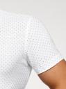 Рубашка хлопковая с коротким рукавом oodji для мужчины (белый), 3L210061M/49167N/1079D