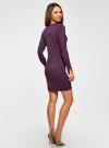 Платье базовое из вискозы с пуговицами на рукаве oodji для женщины (фиолетовый), 73912217-1B/33506/8800N - вид 3