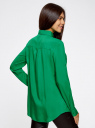 Блузка базовая из вискозы с карманами oodji #SECTION_NAME# (зеленый), 11400355-4/26346/6D00N - вид 3