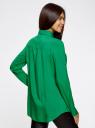 Блузка базовая из вискозы с карманами oodji для женщины (зеленый), 11400355-4/26346/6D00N