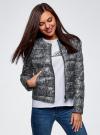Куртка стеганая с круглым вырезом oodji #SECTION_NAME# (черный), 10203072B/42257/2923L - вид 2