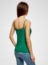 Майка женская (упаковка 2 шт) oodji для женщины (зеленый), 14305023T2/46147/6D00N