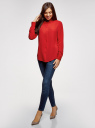 Блузка прямого силуэта с нагрудным карманом oodji #SECTION_NAME# (красный), 11411134-1B/48853/4500N - вид 6