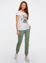 Комплект трикотажных брюк (2 пары) oodji #SECTION_NAME# (разноцветный), 16700030-15T2/46173/19VUN - вид 6