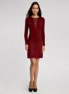 Платье с декоративной вставкой oodji #SECTION_NAME# (красный), 73912220/33506/4900N - вид 2