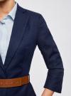 Жакет льняной с широким ремнем oodji #SECTION_NAME# (синий), 21202076-2/45503/7902N - вид 5