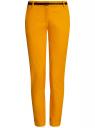 Брюки-чиносы с ремнем oodji #SECTION_NAME# (желтый), 11706190-3B/32887/5200N