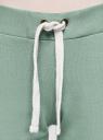 Брюки трикотажные спортивные oodji #SECTION_NAME# (зеленый), 16701010B/46980/6200N - вид 4