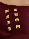 Платье с металлическим декором на плечах oodji #SECTION_NAME# (красный), 14001105-2/18610/4900N - вид 5